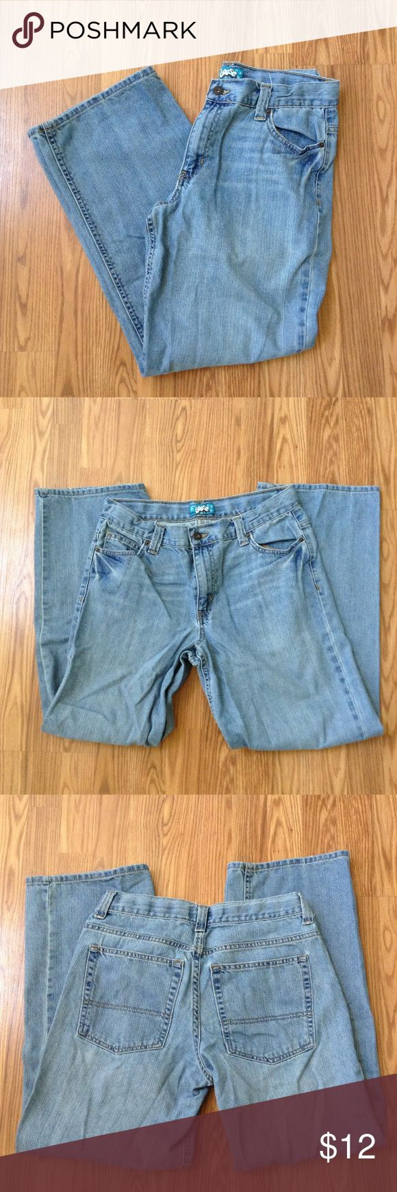 Old Navy Youth Boys Loose Jean Loose jean, zip fly, adjustable waist. 100% cotton. Size 18 HUSKY Condition: good. Actual color of items may vary from picture. Bottoms Jeans
