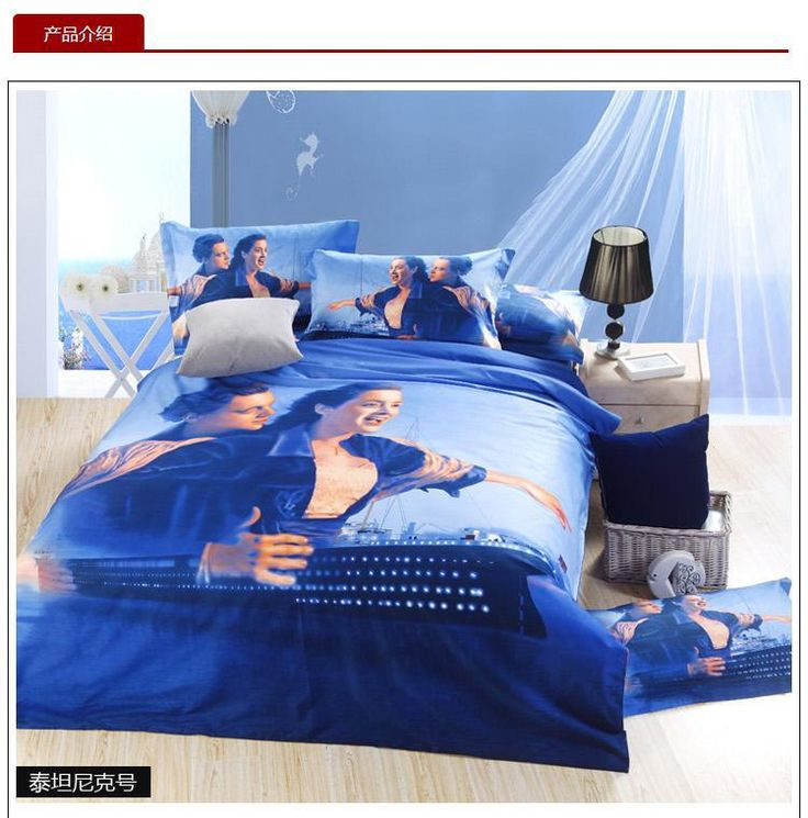 diy room d?cor 3D Blue Titanic bedding set queen size sheets quilt doona duvet cover double bedspreads bed in a bag bedsheet linen 100% cotton -- AliExpress Affiliate's buyable pin. View the item in details on www.aliexpress.com by clicking the image #DuvetCovers
