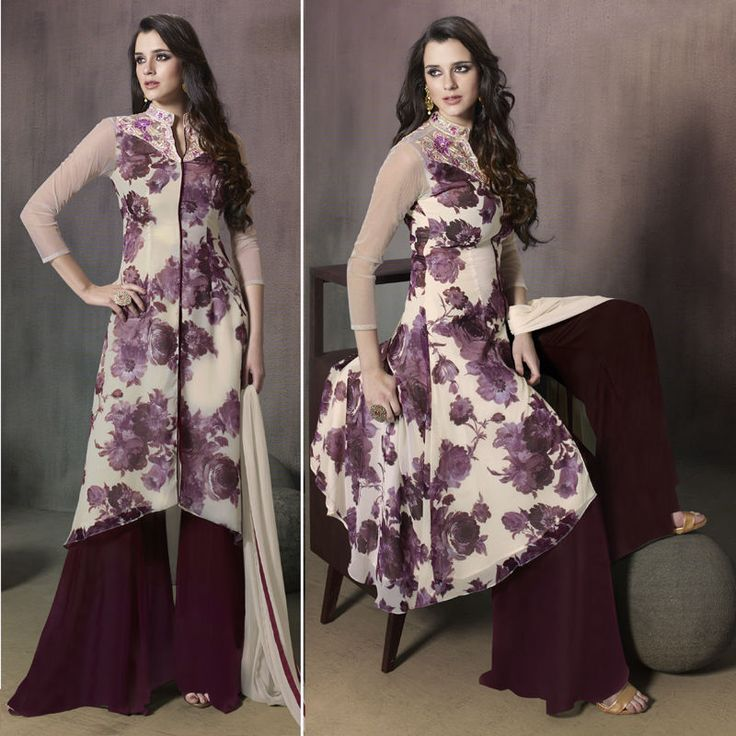 Latest Indian Designer Plazzo Style Pakistani Salwar Kameez Suit Dress Freeship…