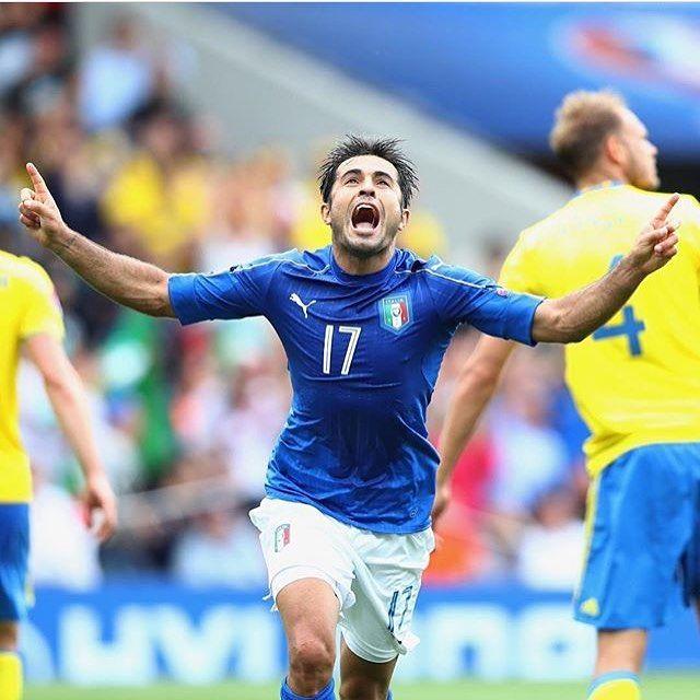 Eder offre la victoire (et la qualification) de l'Italie par un joli but à la 88' ! #eder #italia #sweden #euro2016 #inter #fcim #fcinternazionale #nerazzurro #goal #forza #forzainter