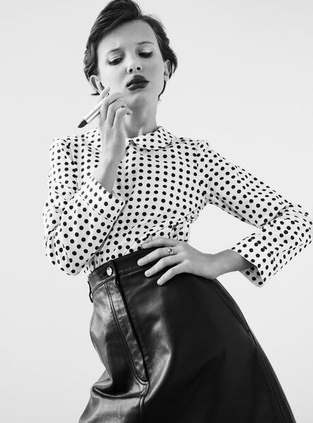 Millie Bobby Brown of Stranger Things for W Magazine.