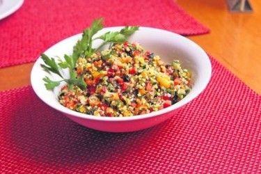 Израильский салат из баклажанов