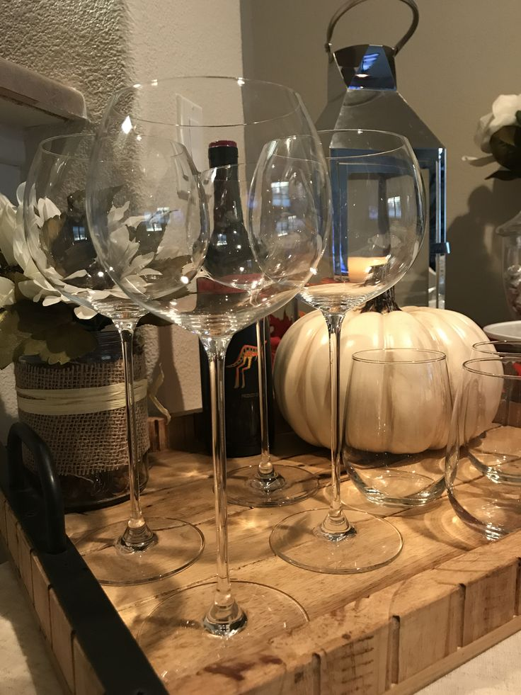 "Gorgeous ""Olivia Pope"" wine glasses on our thanksgiving table - by Jamie"