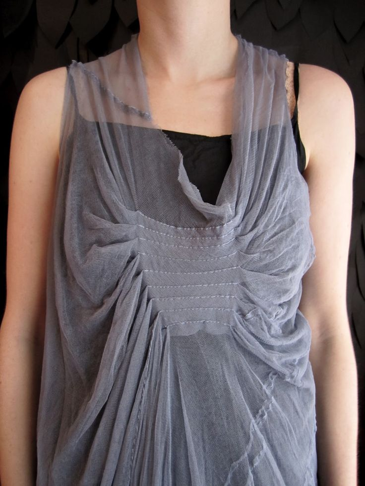 Tuck & Drape - lightweight vest design using fabric manipulation techniques to add interest & create structure; sewing ideas // Marc Le Bihan