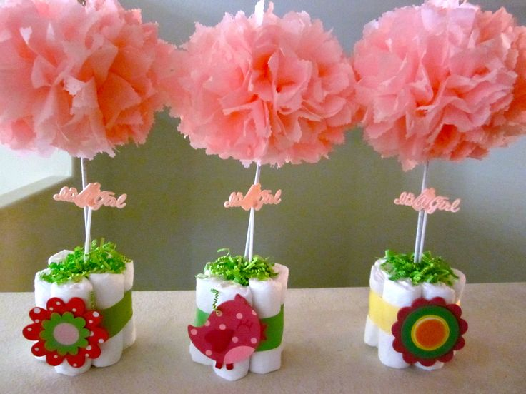 Baby shower table centerpieces baby party pinterest for Baby shower foam decoration