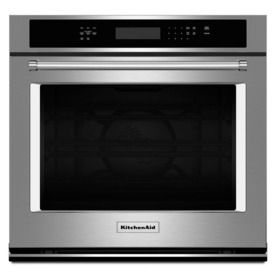 KitchenAid Convection Single Electric Wall Oven (Stainless Steel) (Common: 30-in; Actual 30-in) 1799.00 lowes