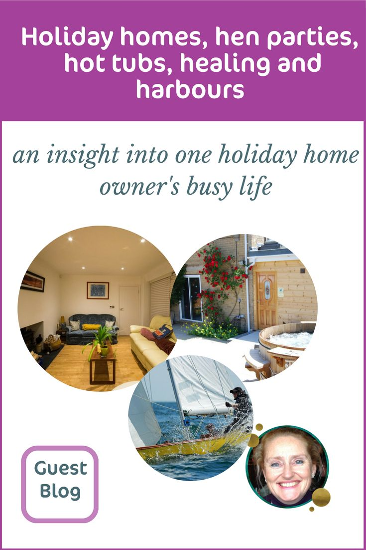 As holiday home owners we wear many hats. Just look how busy Gayle is!  With her holiday homes, hen parties, hot tubs, healing and harbours. Get an insight into her 'other life'