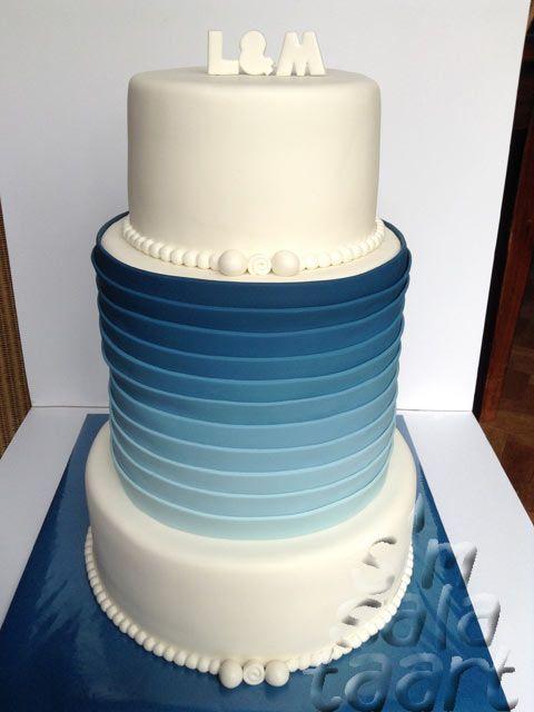 Blauw-Witte Bruidstaart