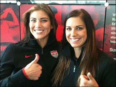 Hope Solo & Alex Morgan