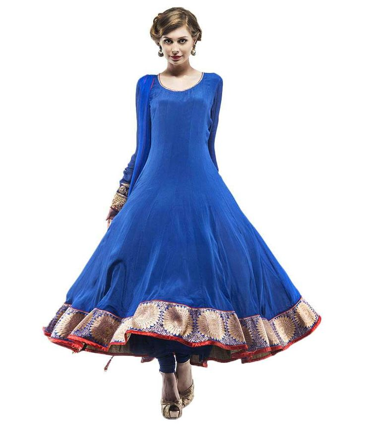 Samor Net Floor Length Anarkali With A Brocade Yoke, http://www.snapdeal.com/product/samor-net-floor-length-anarkali/367193611