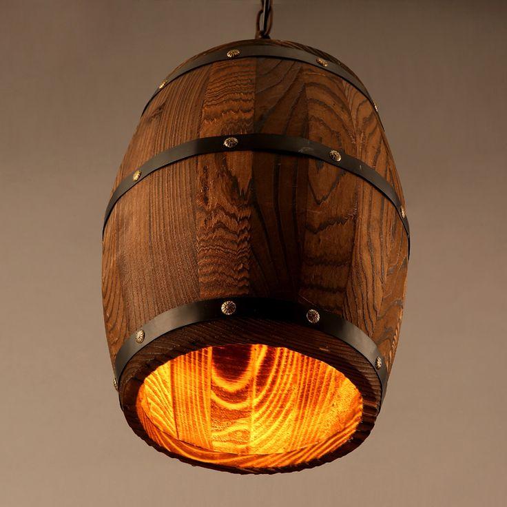 Ретро бочки творческий деревянные бочки гостиной люстра столовая спальня чердак Кафе-Бар Столовая люстра деревянная лампа отель JH194(China (Mainland))