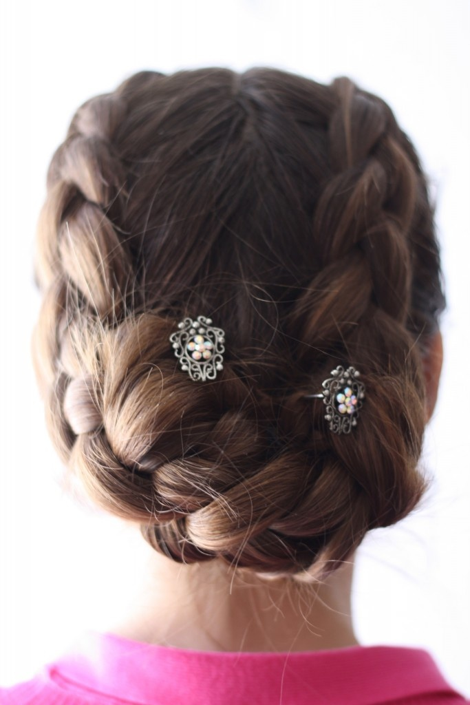Dutch Braided Hair, secured with You Pins from Lilla Rose - http://www.lillarose.biz/simplybeautiful/