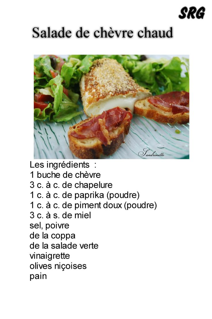 salade de chevre chaud (page 1)