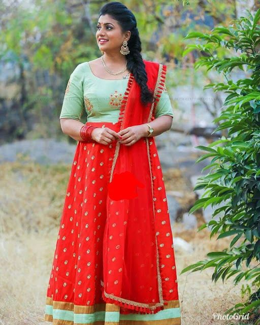 3f1a705fc2 Roja Red Floor Length Frock. Roja Red Floor Length Frock Indian Long Frocks  ...