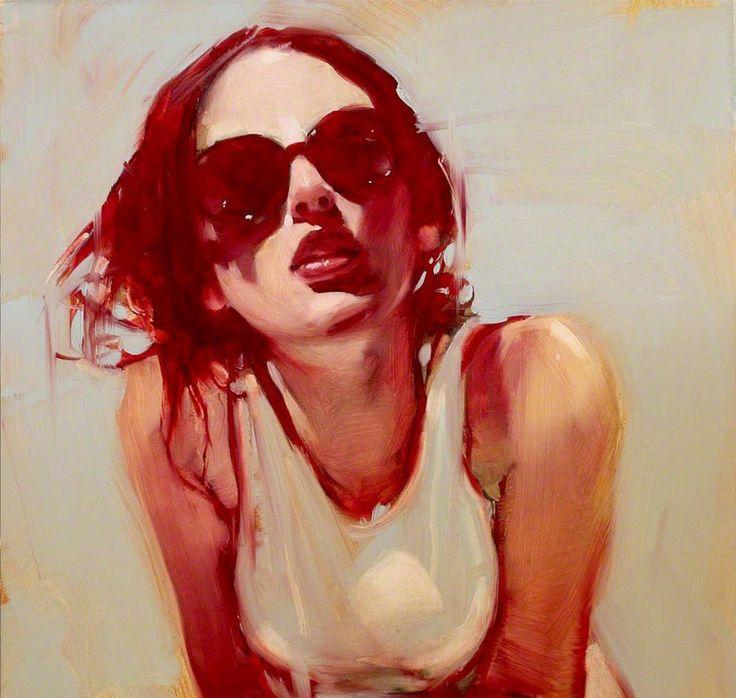 Red 2 by Simon Gatzwiller > superb portrait painting #oiloncanvas #portraitart
