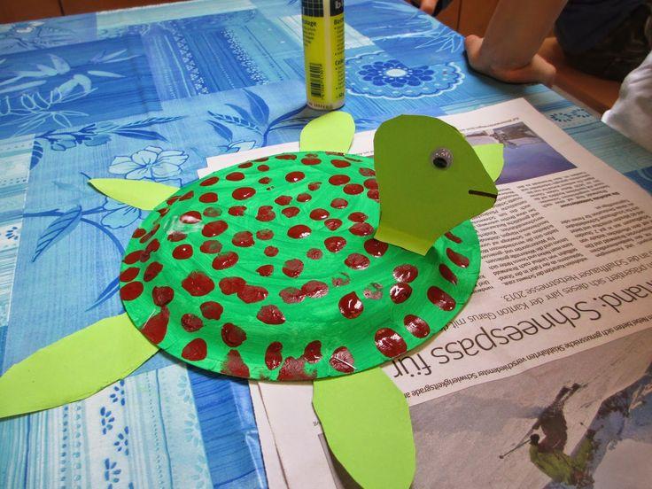 Schildkröte basteln im Kindergarten