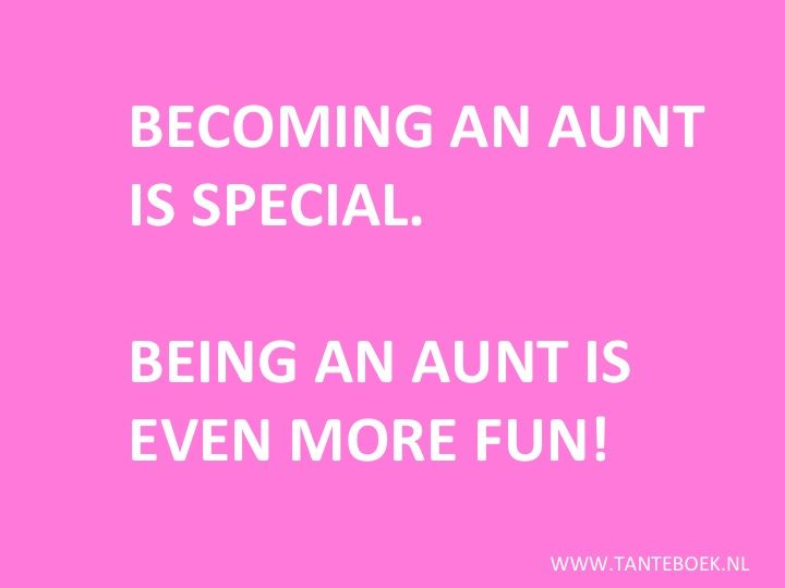 I love being an aunt