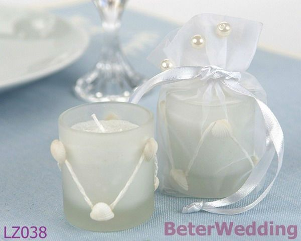 Wedding Favor See More Beach Party Seashells Cake Candles Decorations BETER LZ038 Weddings Frosted GlassWedding GiftsWedding