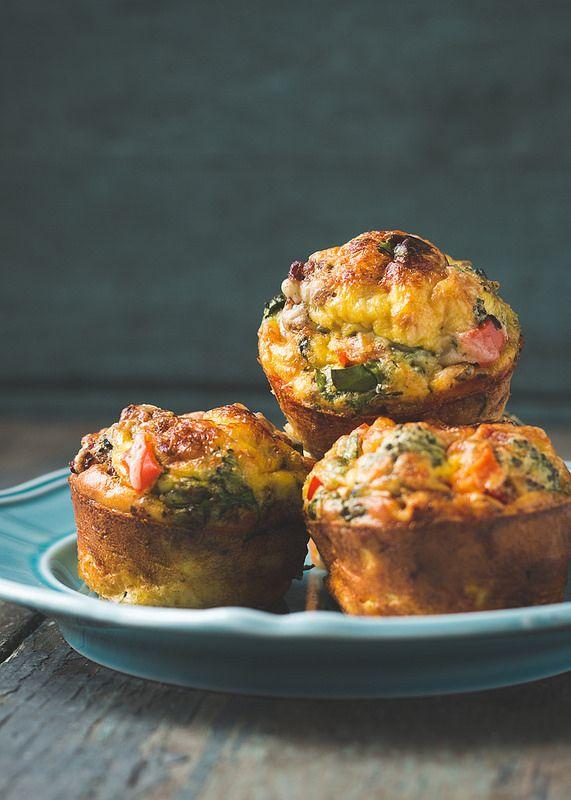 Crustless Mini Quiche (single serving breakfast muffins) - Will Cook For Friends