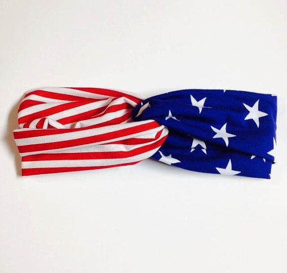 American Flag, United States, Turband, Two Sided, Stars and Stripes, Flags, USA Head Band, Wraps, Twist, American Patriotic, Fourth of July