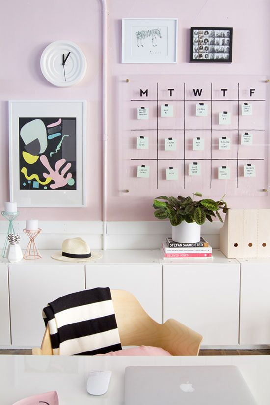 desk space styling | designlovefest