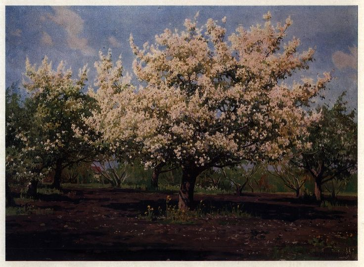 Яблони в Цвету. Из цикла «Пейзажи Молдавии», 1969 год.