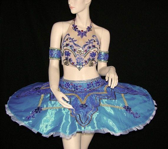 Ballet Tutu - Beautiful Classic Oriental Stage Bule Color Ballet Tutu