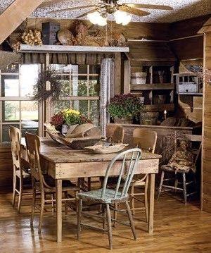 Primitive kitchen - ideas for decoration arrangements