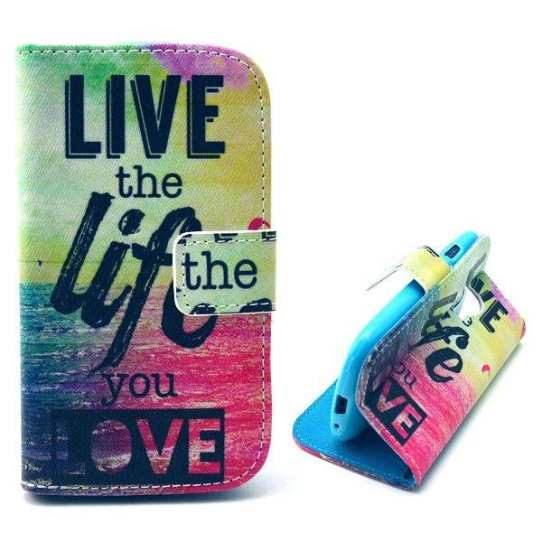 Live the Life You Love bookcase voor Samsung Galaxy S3 mini