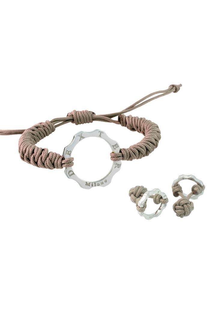 Parure Bracciale Rainbow Big e Gemelli in argento -  #timemachine #bracciali #bracelet #gear #ingranaggio #gioielli #jewelry
