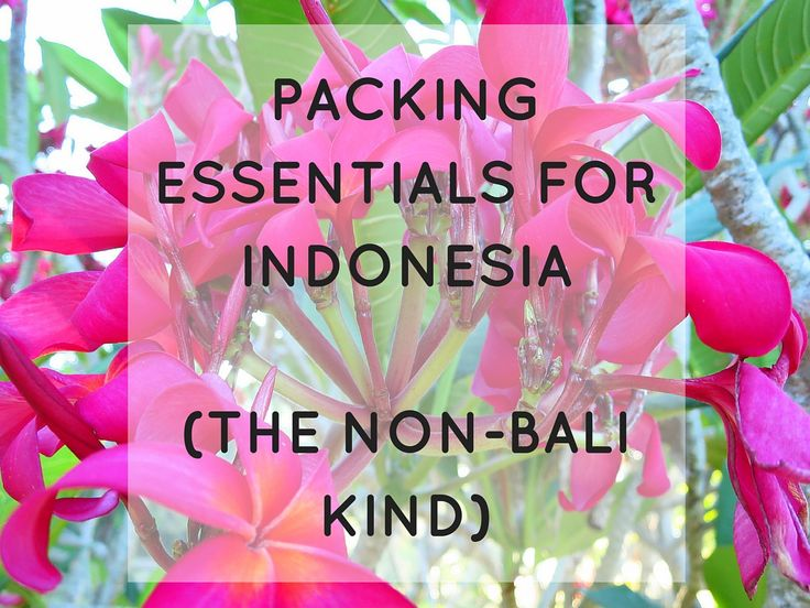 packing list for indonesia