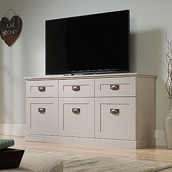 $404.00 New Grange Entertainment Credenza Cobblestone * D by Sauder Woodworking is now available at American Furniture Warehouse. Shop our great selection and save!