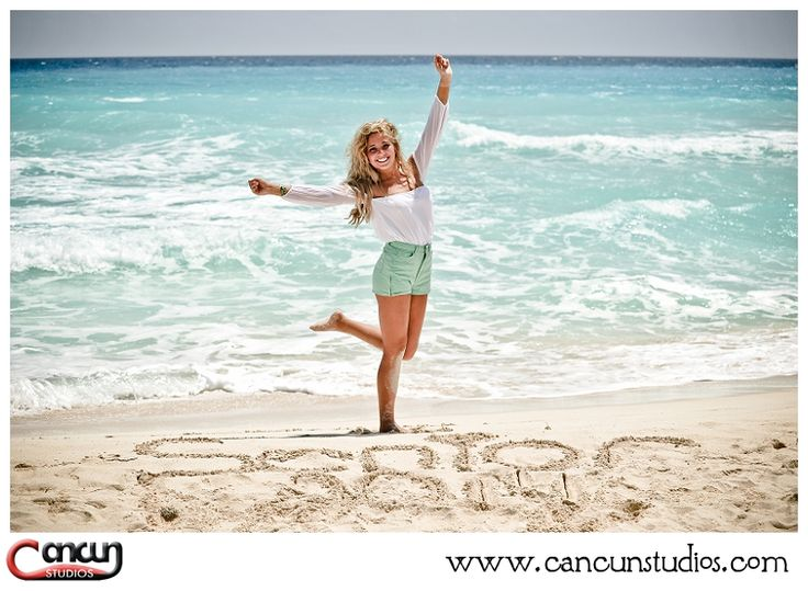 Cancun beach photography www.cancunstudios.com senior photos in cancun