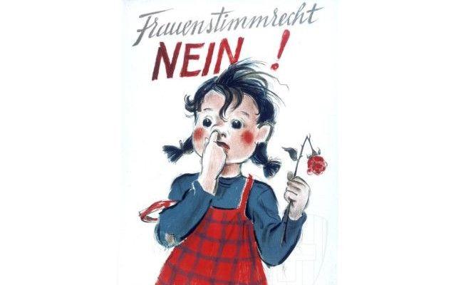 Women's vote Switzerland 1946, Frauenstimmrecht – NEIN!, Women's vote – NO!
