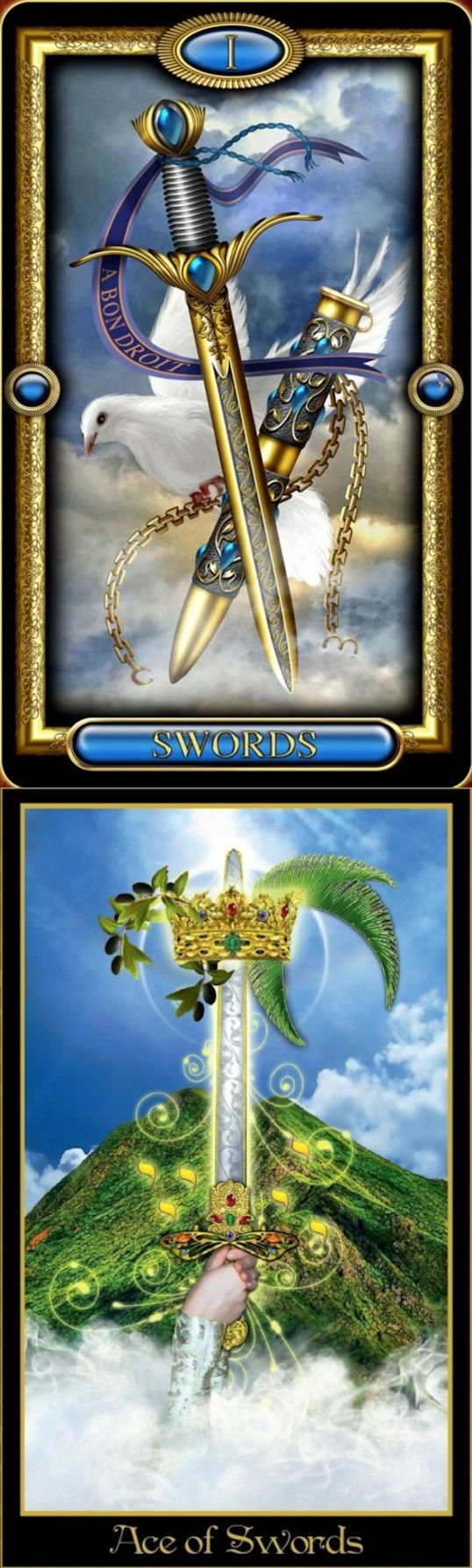Ace of Swords: potential for immense power and success and using incredible power for evil (reverse). Royale Tarot deck and Illuminati Tarot deck: online tarot prediction, tarot card reading yes or no and dark tarot card reading. Best 2018 psychic readings free and wicca.