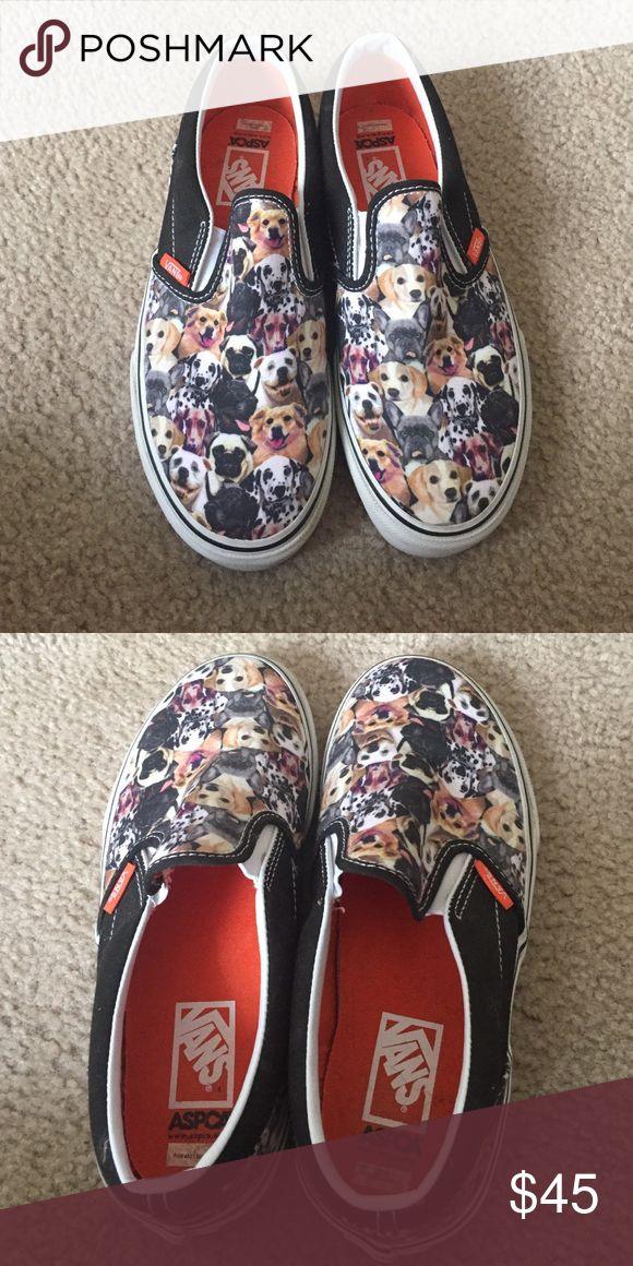 ASPCA Dog Vans ASPCA dog vans . Kids size 4 but fits women's size 7 . Amazing condition Vans Shoes Athletic Shoes