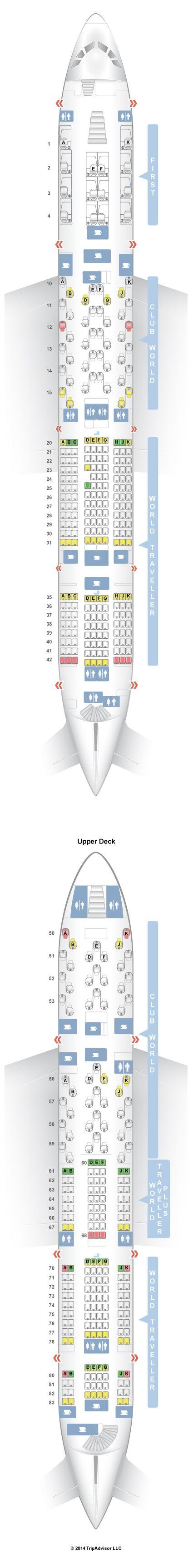 SeatGuru Seat Map British Airways Airbus A380-800 (388)