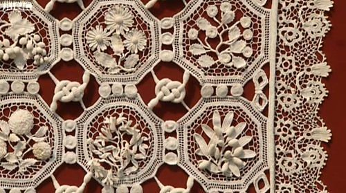 Irish crochet lace hanging.  Circa 1905.  Featured on BBC1 Antiques Roadshow.  Additional photos at sallymag's Ravelry page.