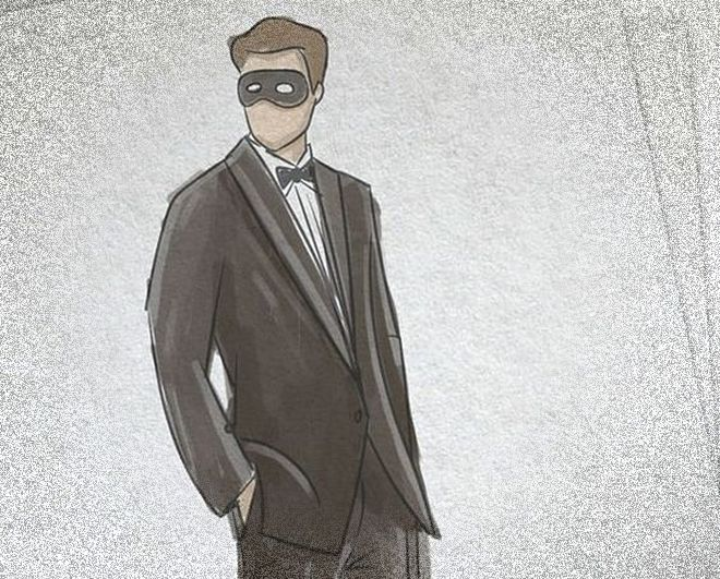 50 Sfumature di Nero Film: il bozzetto dell'abito di Christian al Gran Ballo in maschera