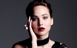 Download Jennifer Lawrence Face Portrait Widescreen & HD Wallpapers From High Quality Resolution