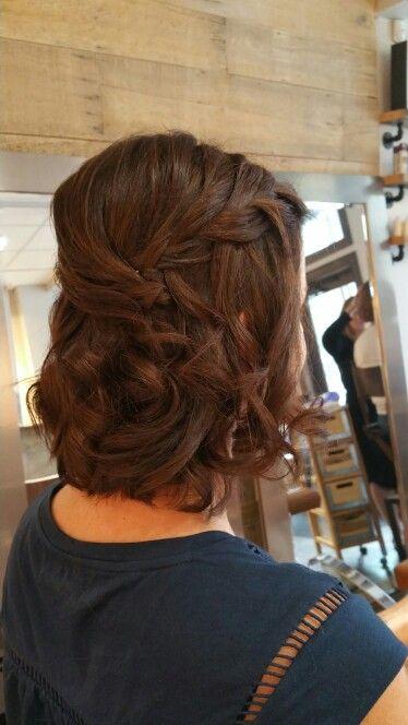 #soft #braid  formal style on a #bob by us.