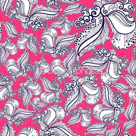 Абстрактные Цветы Векторный фон — Стоковая иллюстрация #54350491 #karinka_bu #karinka_bu_pattern