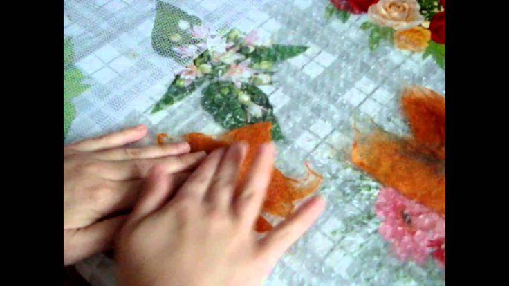 How to make leaves, felting & needle