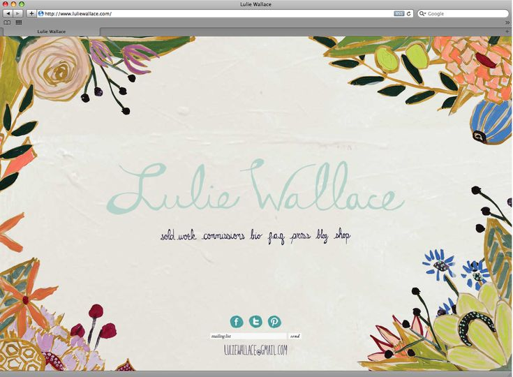 Lulie Wallace designed by Stitch Design Co.Webdesign, Wallace Website, Luli Wallace, Wallace Design, Web Design, Pretty Design, Stitches Design, Website Design, Design Web