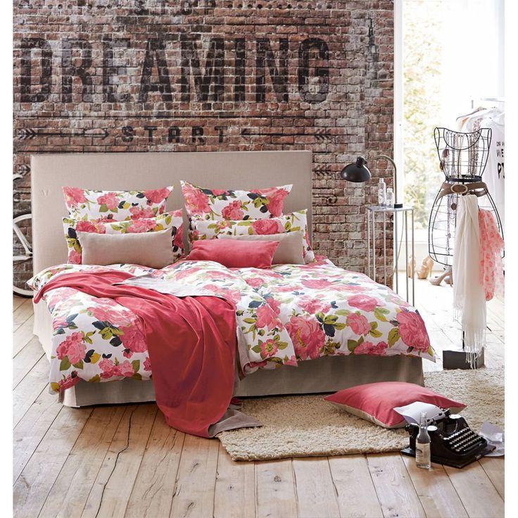 superior einfache dekoration und mobel edle und hochwertige bettwaesche #1: Romantisch, stylish-elegant: Das apart baumwollbezogene Bett mit hohem  Kopfteil besticht nicht nur mit der eleganten , hochwertige Matratzen und  ein ...