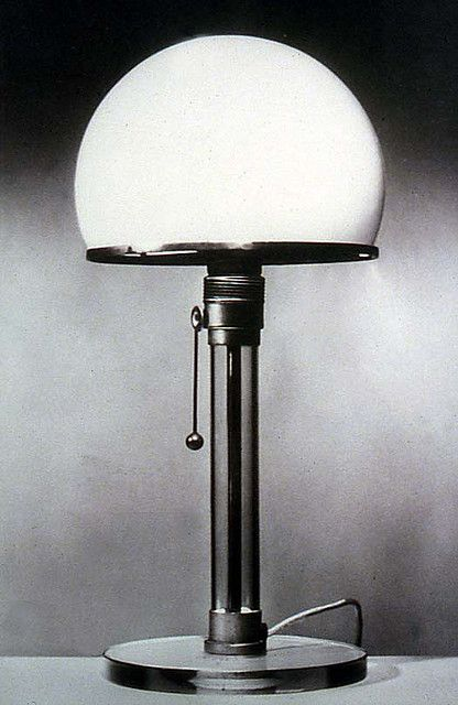Roots of contemporary lighting. Desk lamp designed by K. J. Jucker and Wilhelm Wagenfeld as a master journeyman project in the Bauhaus Metal Workshop, 1923-24.