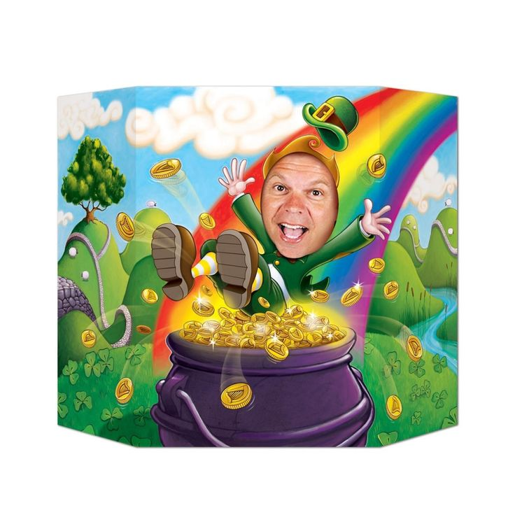 Pack of 6 St Patrick's Day Leprechaun Stand-up Photo Prop 3.1' x 2', Multi