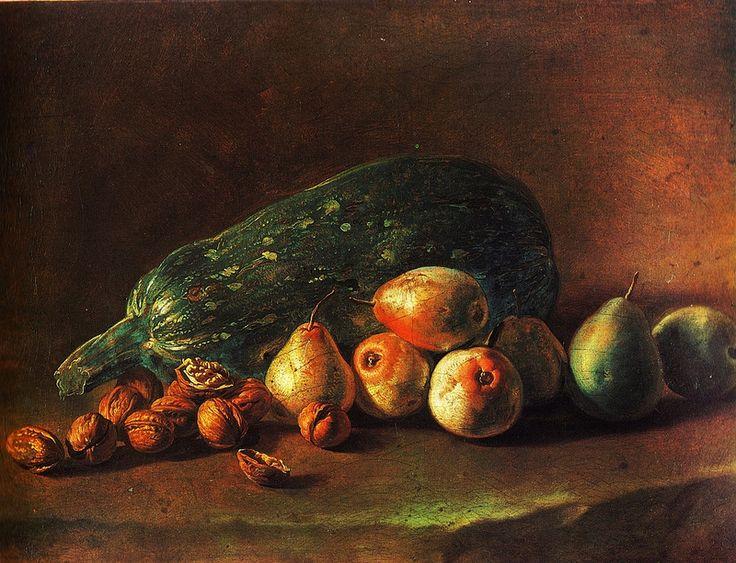 Giacomo Ceruti: Still Life of Fruit and Nuts