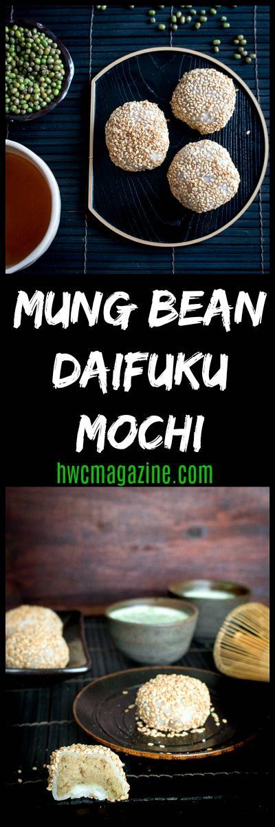Mung Bean Daifuku Mochi / #japanese #dessert #mochi / GLUTEN-FREE/ DAIRY-FREE/ VEGAN/ Hanami Viewing Treats/ JAPANESE TREAT/ MUNG BEANS/ Traditional Chinese Medicine - COOLING/ https://www.hwcmagazine.com