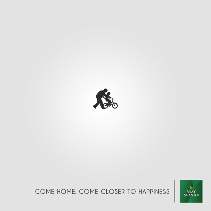 Don't look too far, because happiness is closer than it appears. Find it just around the corner, at Vijay Shanthi Builders' Happy Homes. #RealEstate #homes #happiness